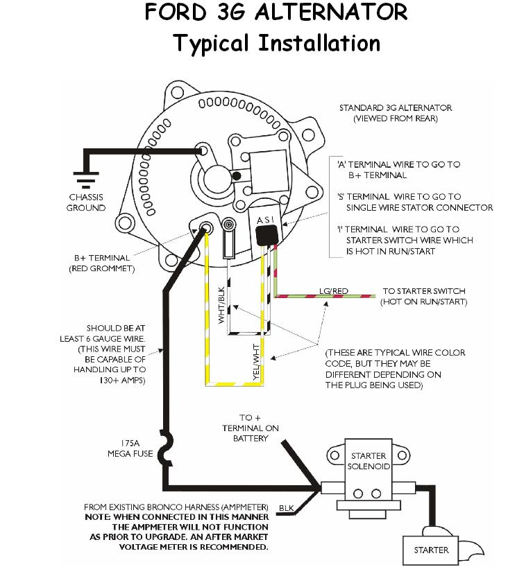 ford 3g wiring diagram ford 3g alternator diagram
