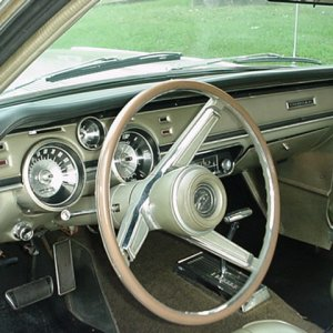 1967 Cougar Decor interior in Ivy Gold