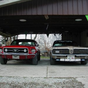 1968 Cougar XR-7 and 1967 Mustang 390 GT