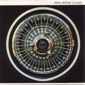 1967 'spinner' wire wheel cover