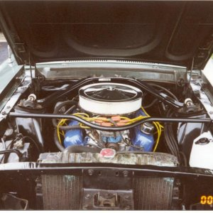 engine compartment (radiator has since been painted)