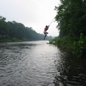 Killer rope swing
