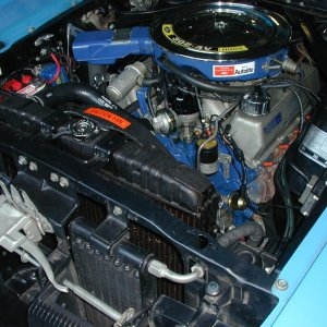 Boss 302 Engine Compartment