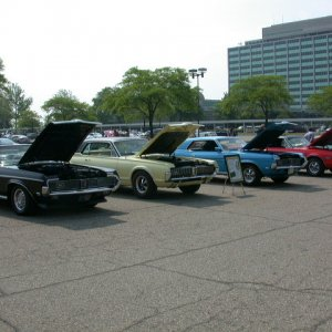 Ford world headquarters car show