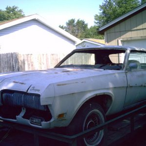 1970 Cougar on the trailer