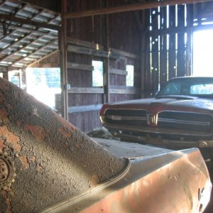 Old cars in a barn.....