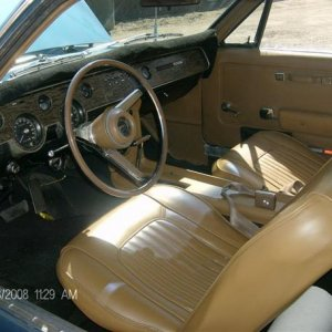 My 1967 Cougar XR7.  I will be re upholstering the interior in the original leather, but not this year.
