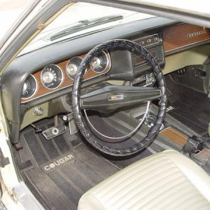 Great dash pad. Seats were professionally redone by John's Cougars, Holland MI