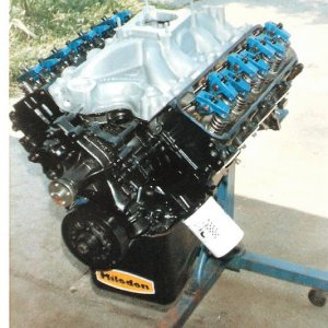 RaceEngine  466 Cobra Jet , 305 Comp Cam, 11 to 1, ported CJ heads,   This engine would destroy the 10 inch slicks...