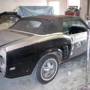 0141969 Black Mustang before