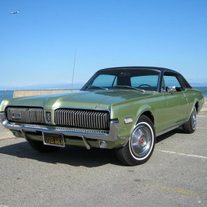 1968 Lime Frost/black bench seat car.
