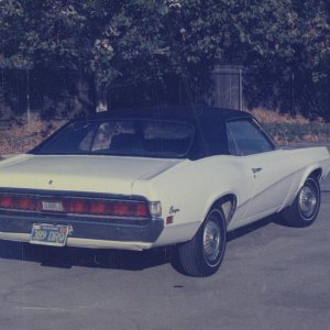 Another picture of my white 1970 Cougar....