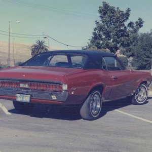Another picture of my red 1970 Cougar....