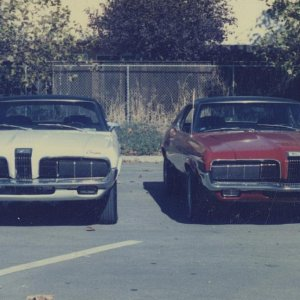 My two 1970 Standard Cougars in 1985.