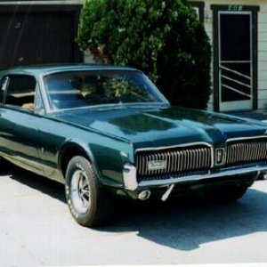 1967 Cougar XR-7,  6.5 Litre (390), Dan Gurney Special, AT, AC, PS, PDB, AM-8 Track Stereo, Styled-Steel wheels, 3.00 std. axle.   Car was a literal &