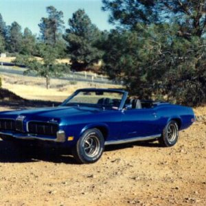 1970 Cougar Std. Convertible - 351C-4V, AT, Traction-Lok axle w/ 3.00 gears, and Competition Handling Package.  Had no other power options (manual dru