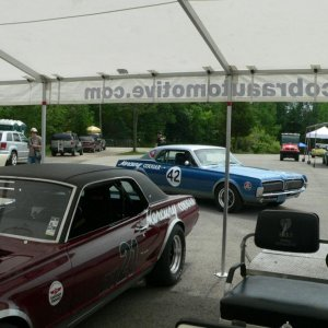 Checking out another Cougar at Road America Summer Vintage Races, 2011.